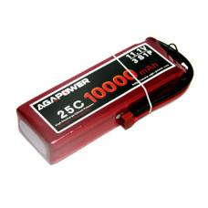 Аккумулятор AGA POWER Li-Po 10000mAh 11.1V 3S 25C Softcase 26x59x168мм T-Plug